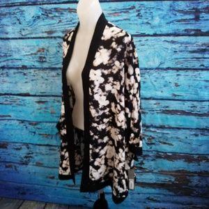 Apt. 9 Sz XL Kimono NWT Black White Tan